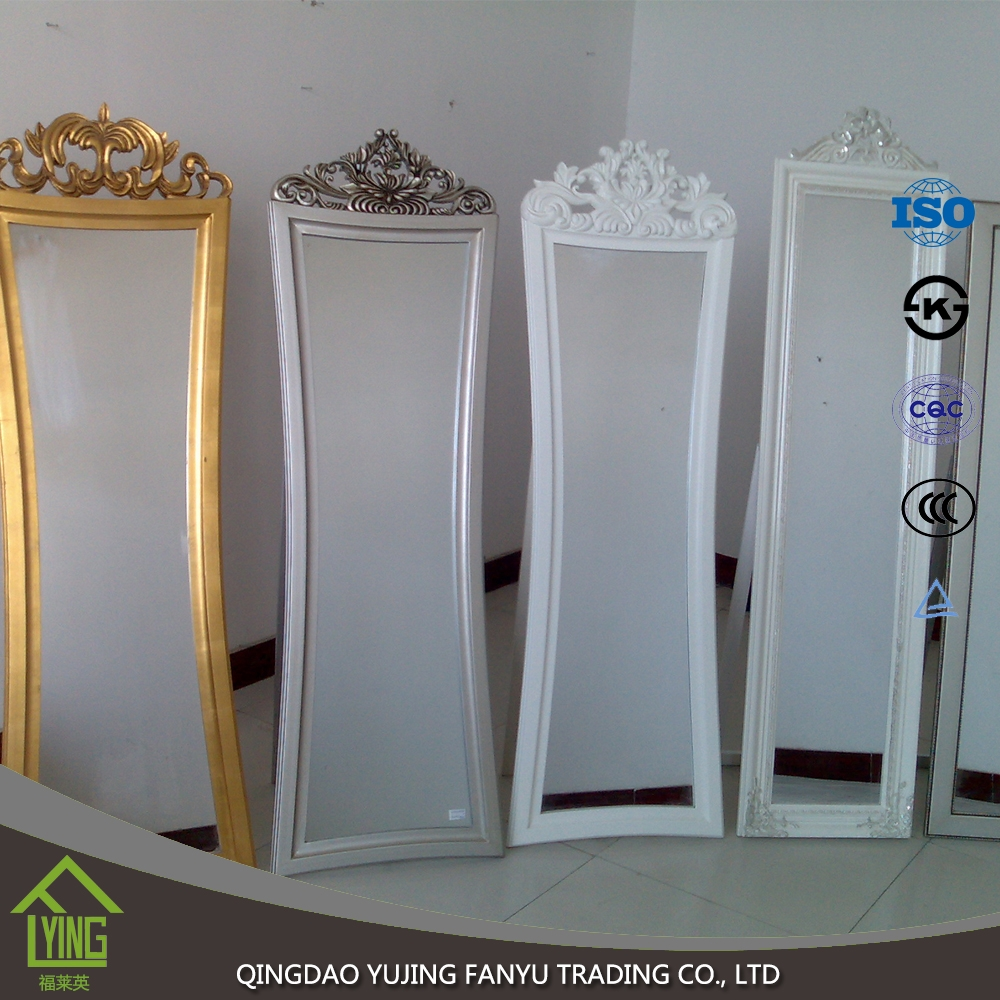 3mm vanity full length free standing mirror glass mirror for Standing glass mirror