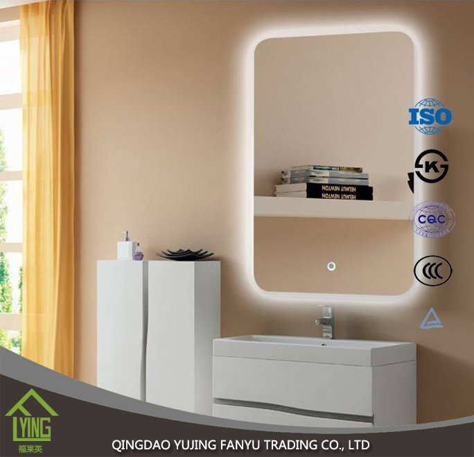 저렴 한 가격 실버 소재 욕실 거울 연결 빛 - 거울 제조업체 중국 ...