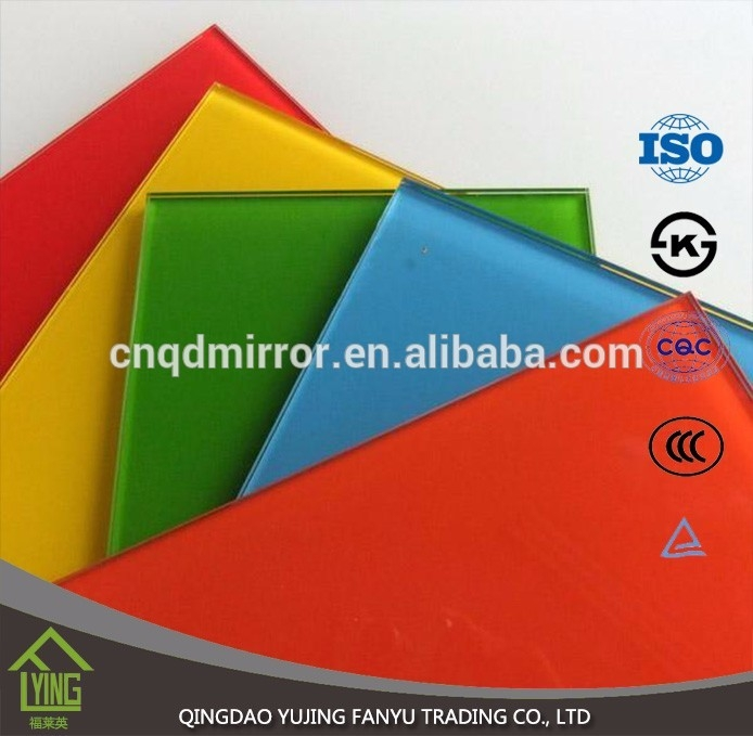 Colored Mirror/tinted sheet glass with custom shape for decoration ...