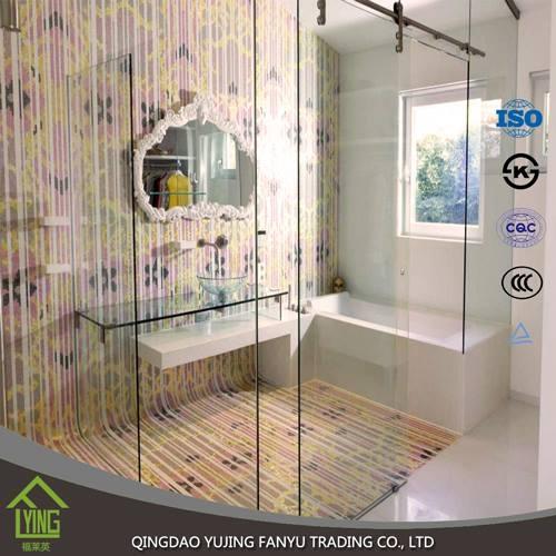 Custom Transpa Tempered Gl Bathroom Shower Door
