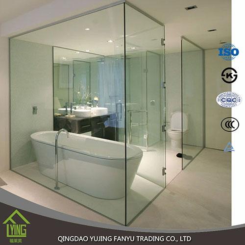 Custom Transparent Tempered Glass Bathroom Shower Door Glass