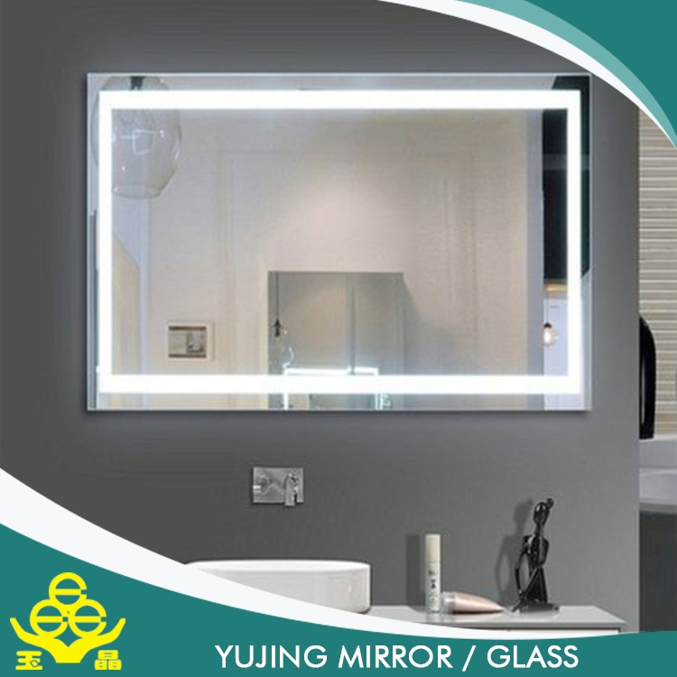 Touch screen illuminated backlit led mirror bathroom for Mirror screen