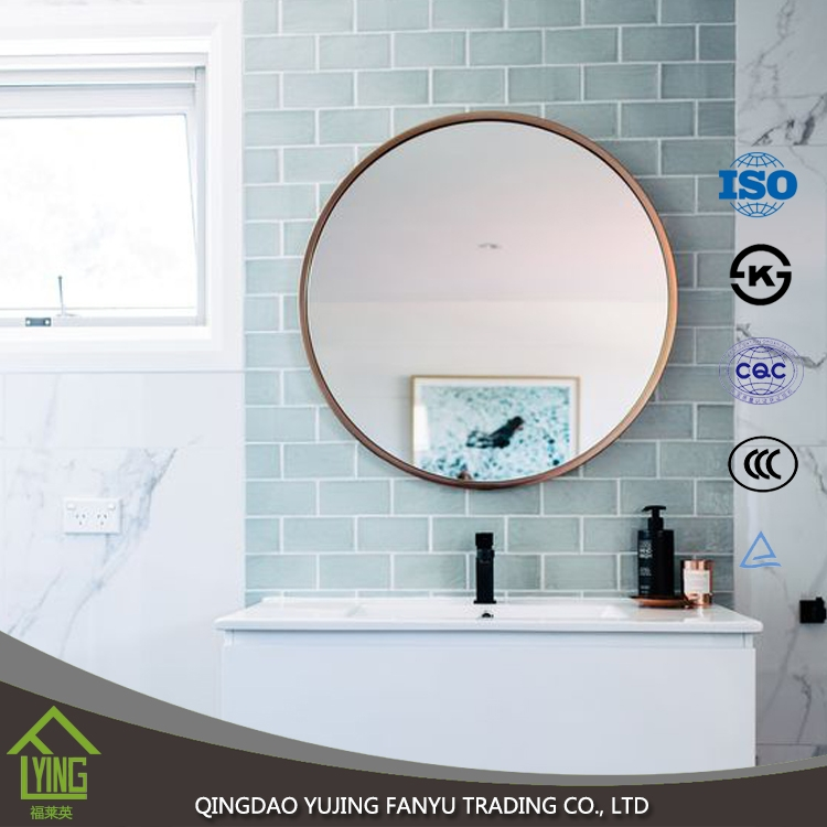 Low Price Good Design 5mm Decorative Bathroom Side Wall Mirrors Tile High Quality Bathroom