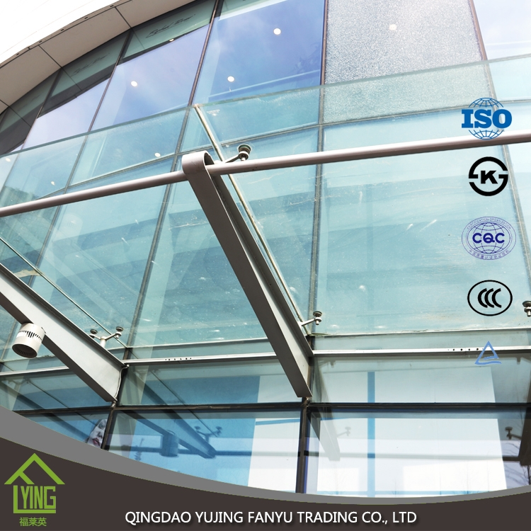 Outdoor toughened glass 2mm 4mm 6mm 8mm thickness tempered for Thickness of glass wall for exterior