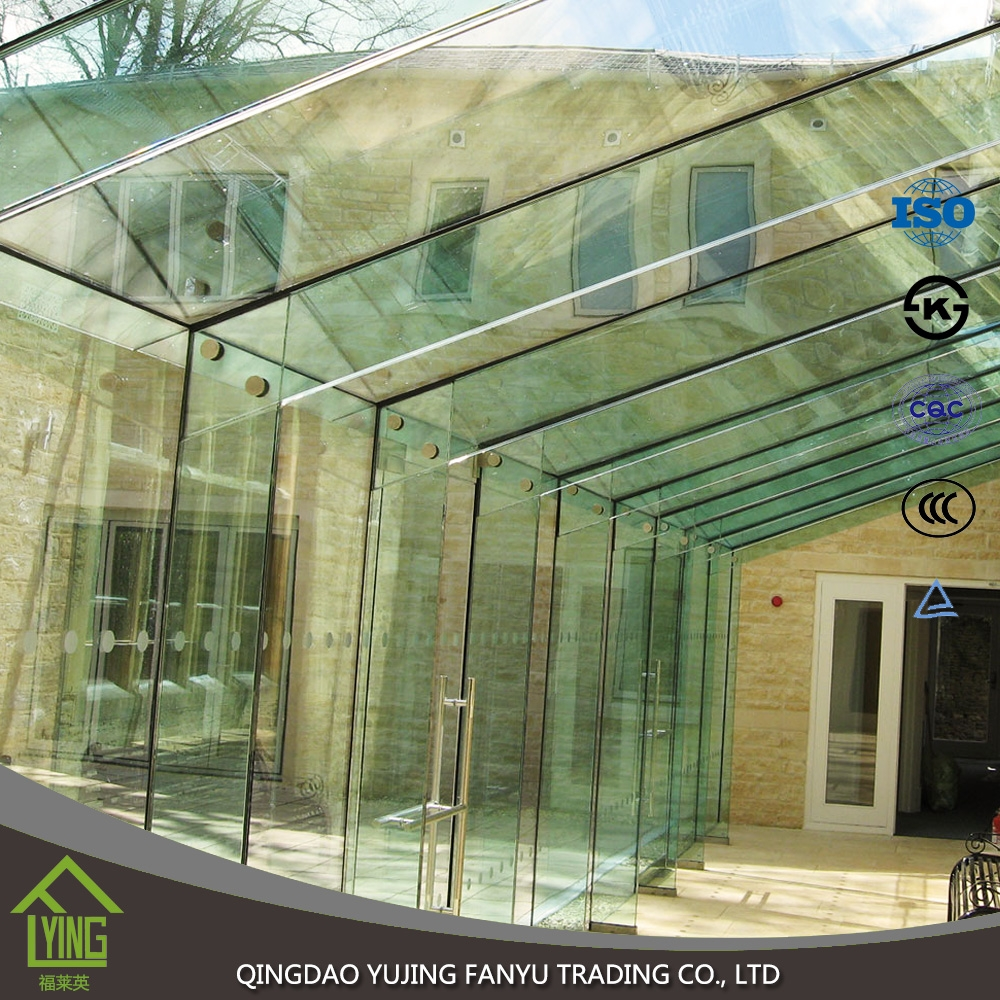 super clear glass 4/5/6/8/12mm thickness beveled Tempered Glass square