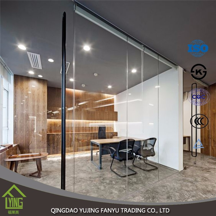 Office Sliding Glass Doors: Super Clear Tempered Glass For Window And Office Glass