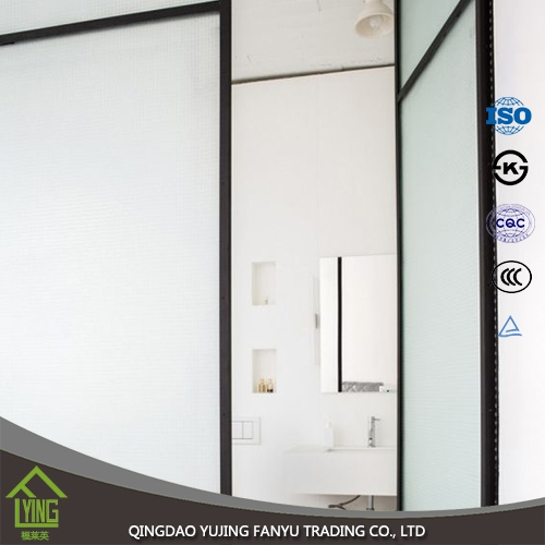 wall glass tempered glass with various angles for decoration